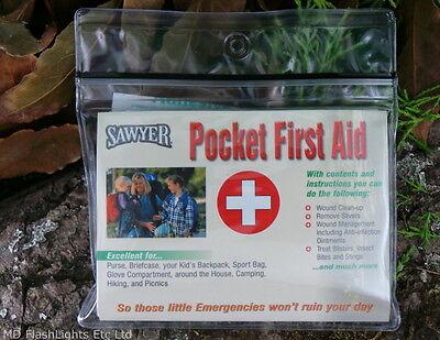 Glorioso Sawyer Pocket Kit Pronto Soccorso Ferita Pulita Up & Trattamento Bushcraft Sopravvivenza Edc- Dolorante