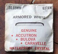 Vintage Divers Watch Bulova Snorkel Crystal 30.65mm White Ring Bulova 637aw Part
