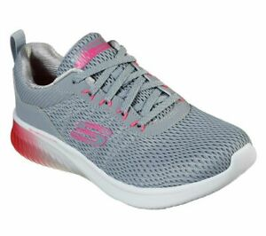 774bbbfdc88a Skechers Gray Pink Shoes Memory Foam Womens Sport Air Ultra Flex ...