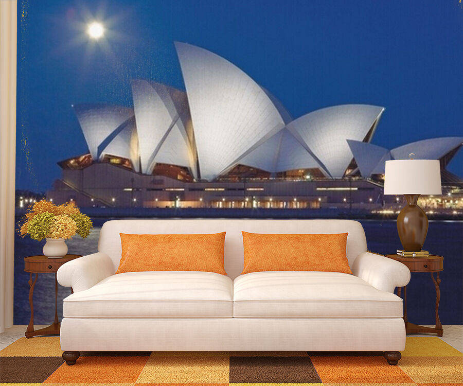 3D Sydney Opera House 5 Wall Paper Wall Print Decal Wall Deco Wall Indoor Murals