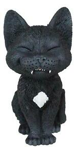 """Sinister TeeHee Pets Grinning Sly Black Cat Figurine 4""""H Wild Kittens Cats Decor"""