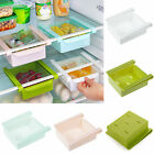 Slide Kitchen Fridge Freezer Space Saver Rack Shelf Holder Organizer Storage Box