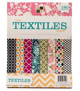 """American Crafts DCWV 8.5""""x11"""" Textiles Cardstock Stack Pattern Paper Sheets"""