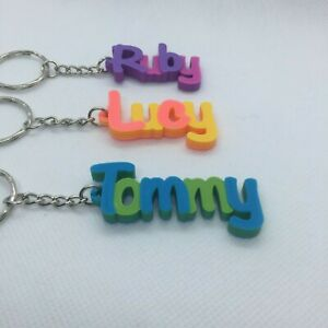 Multi-colour Personalised Keyring, 3D printed keychain, Gift Tag,Stocking Filler