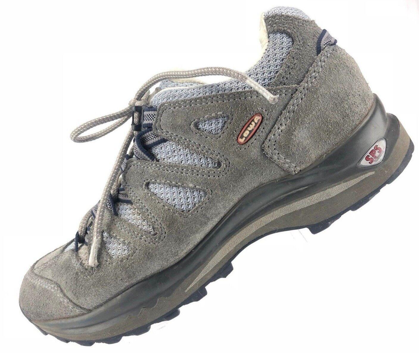 Lowa SPS Hiking scarpe - Gris Lace Up Trail In esecuzione Scarpe da Ginnastica Italy Donna Sz 6.5