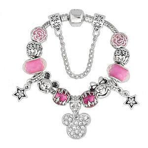 image is loading disney pink mickey minnie mouse pandora bracelet amp - Valentines Pandora Charms