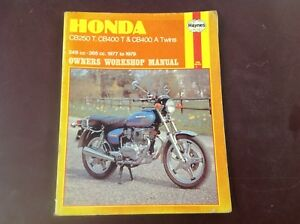 haynes owners workshop manual honda cb250 cb400 twins 77 79 cb250 rh ebay com Honda CB-1 Honda 750