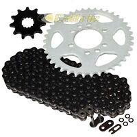 Black O-ring Drive Chain & Sprockets Kit Fits Suzuki Lt-f160 Quadrunner 1991-04