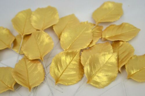 gold rose leaves cake topper decoration wedding cakes anniversary