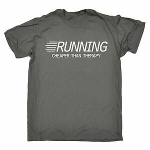 eccdedec8a9 Running Cheaper Than Therapy T-SHIRT Fitness Jogging Training Gift ...