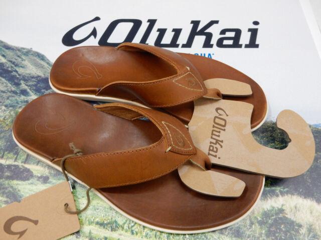 914e0998b1de OluKai 10386 Fxfx Nalukai Fox Brown Men s Flip Flops 11 US for sale ...