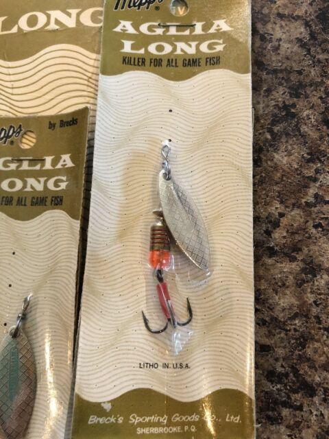 Mepps Aglia Plain Treble Fishing Lure B5 GRP Green Platinum 1//2 Oz