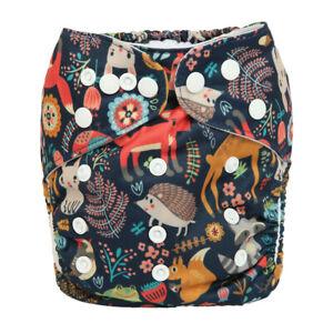 2019-New-Baby-Pocket-Cloth-Diaper-Nappy-Reusable-Washable-Animal-Fox-Deer
