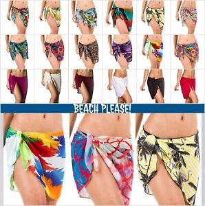 d8a40726daa8c Details about Coqueta Chiffon Bikini Swimwear Cover Up Sarong Pareo Bathing  Suit Wrap Women