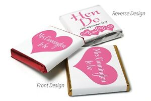 24-Personalised-Chocolate-Neapolitan-039-s-Hen-Party-U-WRAP-Chocolates-supplied