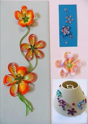 Fiori Quilling.Quilling Kit Flowers For Cards Wall Art By Past Times Quilling