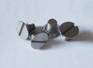 Triumph-Spitfire-Stag-TR2-6-Herald-Brake-Drum-Securing-Screws-Stainless-x4