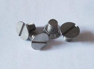 TRIUMPH-Spitfire-Stag-TR2-6-Herald-de-Tambor-de-freno-tornillos-de-fijacion-de-acero-inoxidable-x4