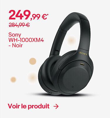 Sony WH-1000XM4 - Noir - 249,99 €*