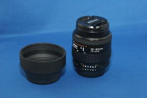 Nikon-Nikkor-35-80mm-af-f4-f5-6-Lens-Hood-D-Filtro-UV-casquillos-de-extremo