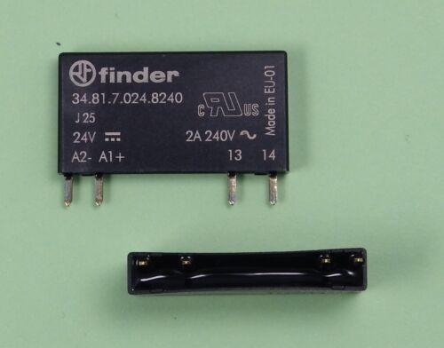 34.81.7.024.8240 Finder Steck//Print Relais SSR Optokoppler E=24V DC A=230V AC 2A
