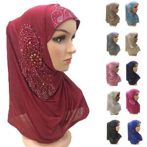 Muslim-Hijab-Scarf-Cap-Women-With-Flower-Head-Islamic-Headscarf-Wrap-Amira-New