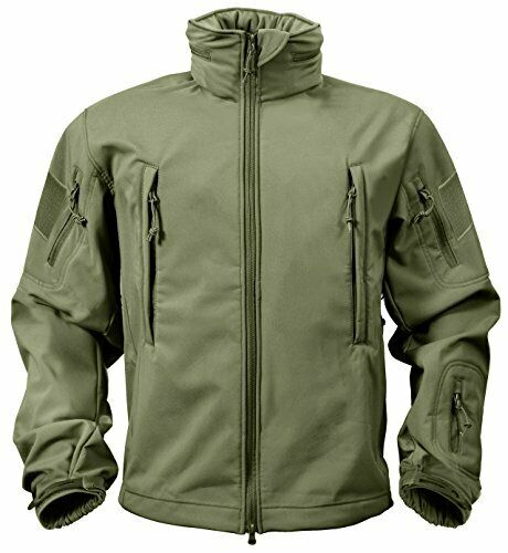 Rothco Men/'s Special OPS Tactical Waterproof Soft Shell Jacket Coat Olive MEDIUM