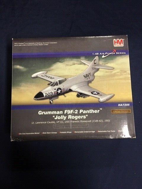 1 48 Grumman F9F-2 Panther USN VF-61 Jolly Rogers USS Franklin von Hobby Master