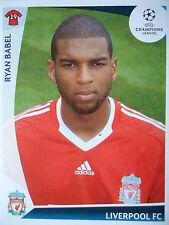 Panini 291 Ryan Babel Liverpool FC UEFA CL 2009/10