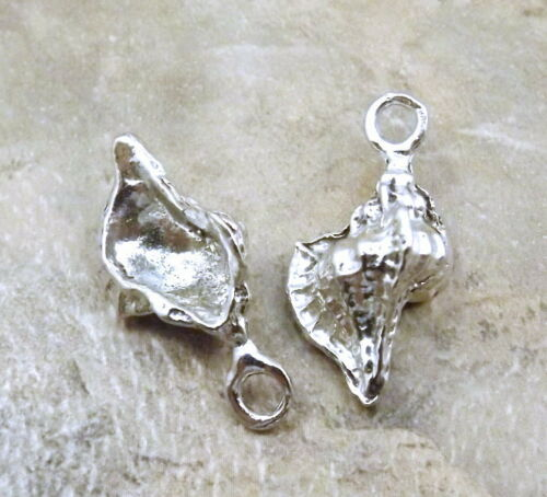 Set of 3 Pewter Conch Shell Charms 5539