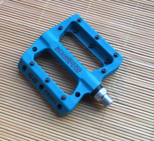 SCUDGOOD polyamide Road MTB XC Bike Pedals flat Bicycle Cycling Pedal Blue