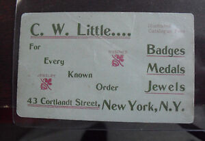 Vintage 1890s business card cw little jewelry store new york city ebay image is loading vintage 1890s business card cw little jewelry store reheart Choice Image