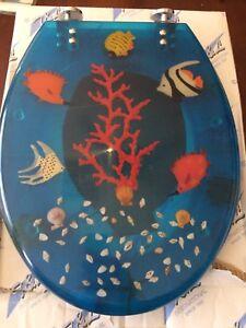 Strange Details About Elongated Fish Aquarium Acrylic Elongated Toilet Seat Blue 16 1 2 Inch Evergreenethics Interior Chair Design Evergreenethicsorg