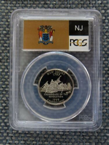 1999-S 25c New Jersey CLAD State Flag Labeled Quarter Proof Coin PCGS PR70DCAM