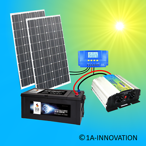 Photovoltaik-hausanlagen Creative 200w Solaranlage Komplettpaket TÜv 220v 280ah Akku Solarmodul 1000w 100 Watt We Have Won Praise From Customers