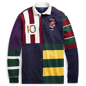 a8b992cd Image is loading Mens-Polo-Ralph-Lauren-Classic-Fit-Cotton-Patchwork-