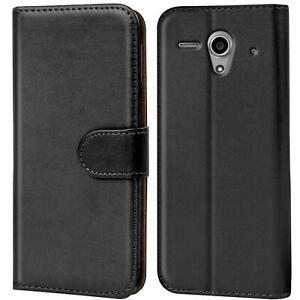 Book-Case-fuer-Huawei-G300-Huelle-Flip-Cover-Handy-Tasche-Schutz-Huelle-Schale