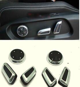Chrome-Seat-Adjust-Switch-Button-Knob-Decor-Cover-For-Audi-Q5-A4-A7-CC-Tiguan