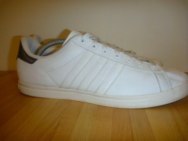 ADIDAS COURT STAR SIZE UK 10.5 WHITE LEATHER TRAINERS MENS