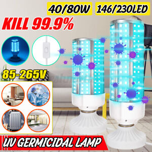 40-80W-UVC-Germicidal-Lamp-E27-LED-Bulb-Home-Ozone-Sterilizer-Disinfection-Light