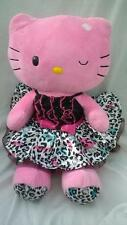 Med/Large Build a Bear Hello Kitty with Dress Soft Toy 50cm Excellent g17
