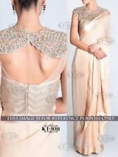 Bollywood Designer Party Wear Cream color  Saree