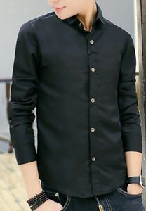 NEW-Mens-Fashion-Slim-Casual-Dress-Long-Sleeve-Shirts-Tops-Formal-Business-Shirt