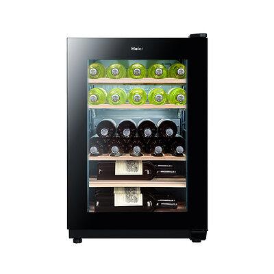 Haier WS25GA Weinkühlschrank, EEK A Schwarz mit UV-Filter, 5 Regale, Kühlschrank