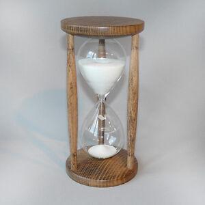 sanduhr stundenglas sanduhren buche gebeizt 60 minuten 1 stunde ebay. Black Bedroom Furniture Sets. Home Design Ideas