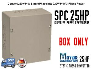 Static Phase Converter - 25 HP - Create 3 Phase Power from Single ...