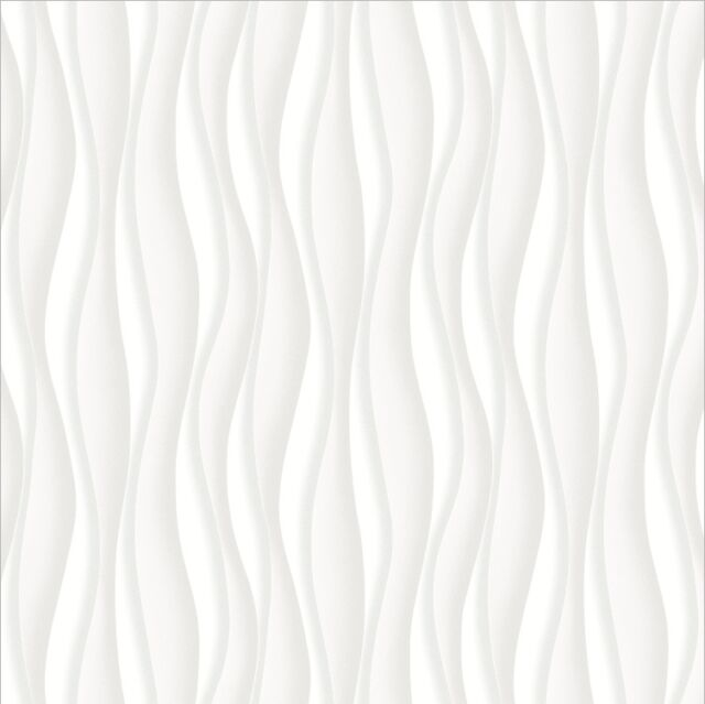 Illusion Waves Wallpaper - 3 D Effect - Wall Decoration - 5 colours to choose