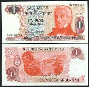 Argentina 1 Peso Argentino Nd ( 1983- 84 ) Unc P 311 A S1 Bqikga1d-07223123-852755354