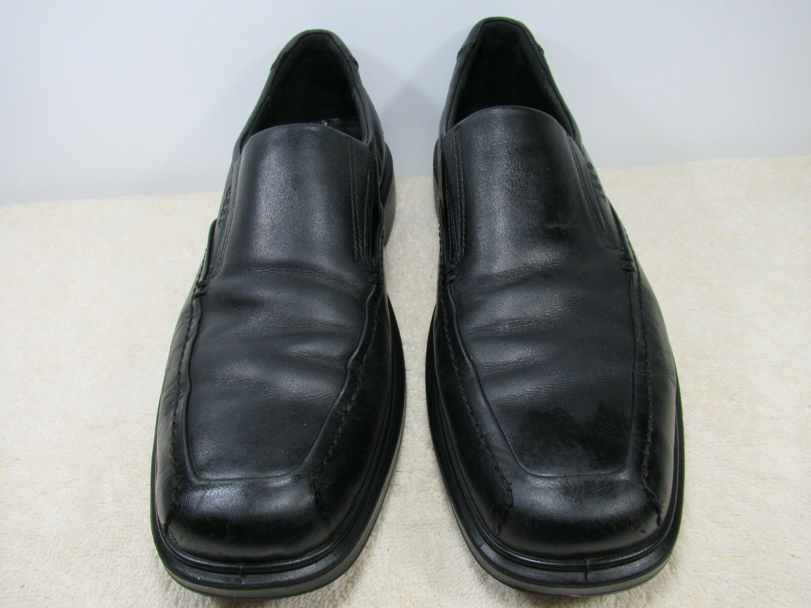 d3c3625b270324 ECCO SHOES BLACK BLACK BLACK GENUINE LEATHER UPPER SIZE USA 12.5 MADE IN  SLOVAKIA 1a0f90