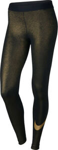 NEW-WOMENS-NIKE-PRO-SPARKLE-COOL-TRAINING-TIGHTS-SIZE-S-881778-010-BLACK-GOLD